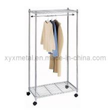 Heavy Duty Chrome Wire Verschiebung Movable Supreme Garment Clothes Rack