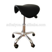 черный PU коммерческих парикмахерская салон мебели с наклонным седлом