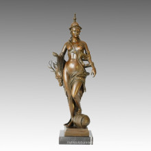 Nackte Figur Statue Huntress Bronze Skulptur TPE-030