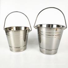 Promotion Barware Beer Wine Ice Bucket / Double Wall Stainless Steel  Ice Bucket with Handle