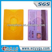 прозрачный чехол пользовательских пластиковых визиток с логотипом печати