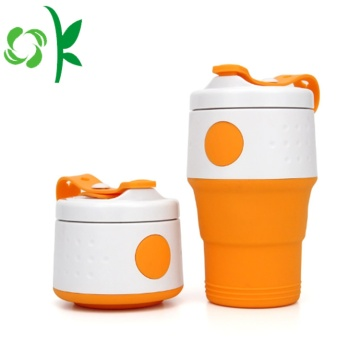 Siliconen Drink Folding Portable Water Cup met deksel
