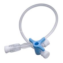 Медицинский одноразовый трехходовой кран с удлинительной трубкой