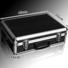 Aluminium Business Case Hardsided Metall Attache Aktentasche - Schwarz