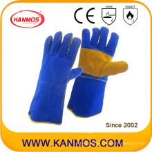 Guantes de trabajo de mano de soldadura de seguridad industrial de piel de vaca (11112)