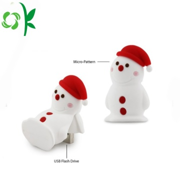 Siliconen USB-cover Snow-man USB waterdichte hoes