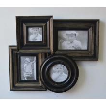 Antique Collage Frame para parede em 4 abertura