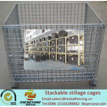 Hersteller bewegliche Werkstatt Transportkäfige recyceln Metalldraht Lagerkäfige Volumen 0,15-1,56m3 stapelbare Stilling Käfige