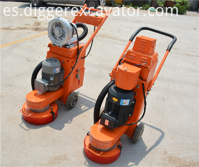 Electric Motor Cement Concrete Floor Grinder With Vacuum