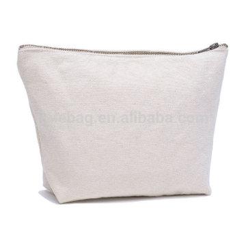 Оптом металлические молнии мешок мода простой чистый холст косметический мешок