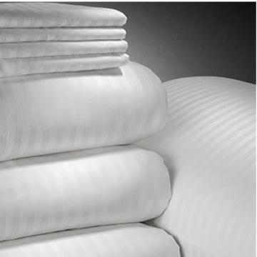 Satin Streifen aus weißer Baumwolle