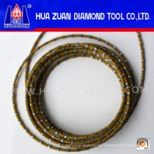 Cuerda de sierra de alambre de diamante de alta eficiencia para mármol y granito