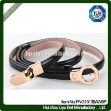 Boucles d'oreilles moulées en métal pour femmes Boucles d'oreilles en cuir véritable pour mariage / Cintos Moda Femme Cintos de cuir