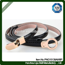 Female Fashion Skinny Metal Buckle Genuine Leather Belt For Wedding/Cintos Moda Mulher cintos de couro