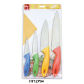 4pcs plastic handle knife set