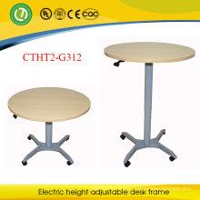 Spain Modern Convenient Gas Spring Height Adjustable Standing Round Bar Table with One Leg
