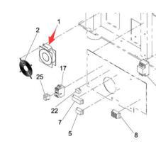 Panasonic SMT Fan para la máquina de la impresora de pantalla Sp60p-M (KXFP005AA00)