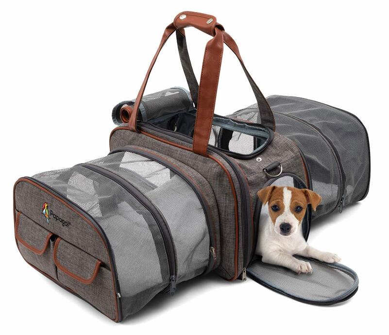 Double Expandable Airline Approved Pet Carrier