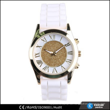 Glitter Dame Uhr Frauen Silikon Uhrenband