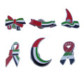 Dubai UAE Flag Enamel Metal Solapel Pins