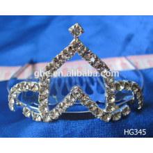 Мода горный хрусталь тиара корону ребенка корону & тиары корону ручной работы рисунок бумаги