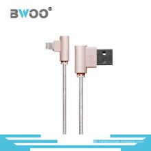 Rechtwinkliges Blitz-USB-Datenkabel für Handy