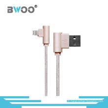 Câble de données USB Lightning Angle droit pour téléphone portable