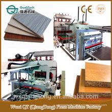 Heißpressmaschine für Melaminpapier auf MDF / HDF / PB