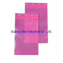 Pink Printed Logo Zipper PE Bags