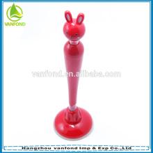 Милый мультфильм кролик формы стоять перо с присоской