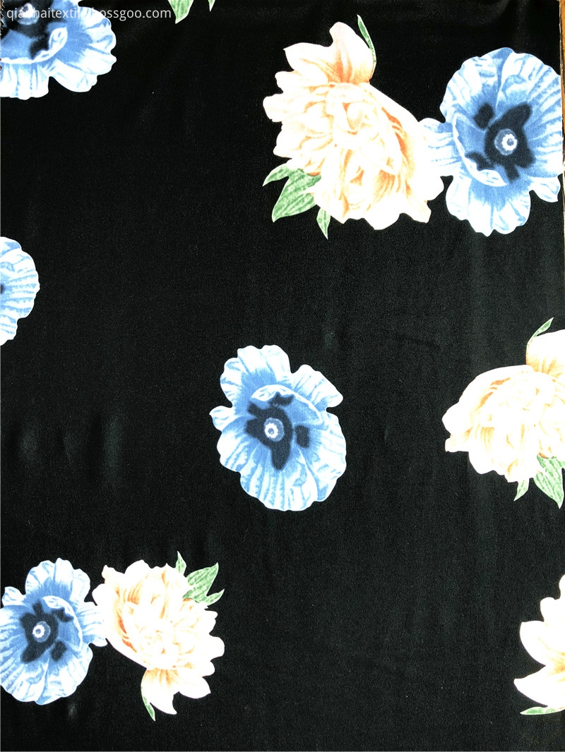 Fashion Paper Printing 100%polyester DTY Jersey