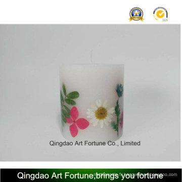 Bougie d'inclusion de fleurs sèches - Taille de poudre à la main