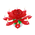 Roterende Lotus Flower Birthday Musical kaars