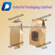 Embalagem de reforço lateral para saco de papel takeway / Doypack com janela