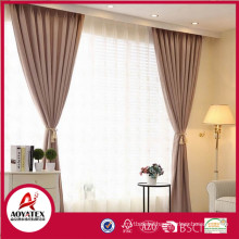 Polyester cotton fabric blackout window curtain with dark blue