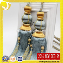 Nouveau design et vente en gros Rayon Curtain Tassel Tieback pour Décoration