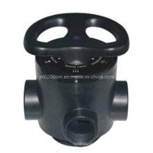 Vanne de filtre multi-port manuel Runxin 51210 F56D