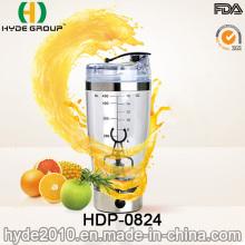 2016 quente venda Popular USB agitador elétrico plástico garrafa de água, BPA livre proteína elétrico Shaker garrafa (HDP-0824)