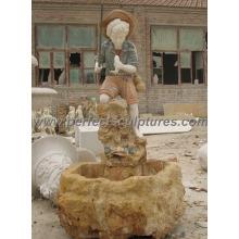 Fonte de água interior com fonte de mármore de pedra (SY-F317)