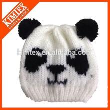 Оптовые дешевые милые пользовательские трикотажные Panda Beanie