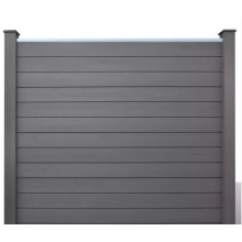 New style WPC slat fence panel fencing panel for garden