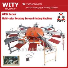 Têxtil automático que gira a máquina de impressão da tela
