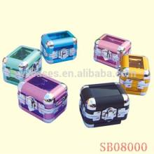 aluminio de caja de exhibición lujo reloj solo con fabricante de opciones de color diferentes