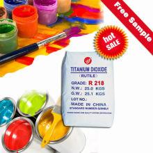 Dióxido de titanio de rutilo de alto brillo para pinturas de látex interiores con SGS (R218)