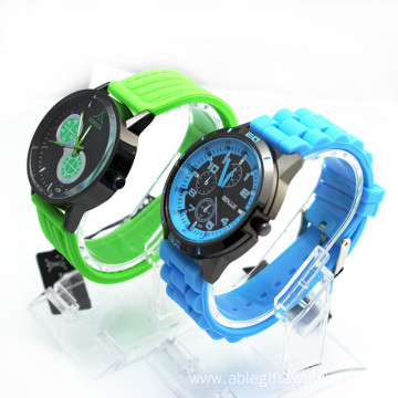 Rubber Jelly Gel Quartz Analog Sports Wrist Watch