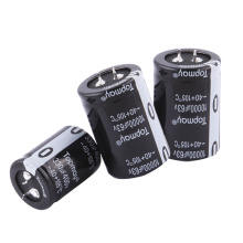 Etopmay Popular Easy Install Snap in Terminal Condensador electrolítico de aluminio 330UF 200V