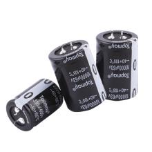 Etopmay popular fácil instale a pressão no capacitor eletrolítico de alumínio terminal 330UF 200V