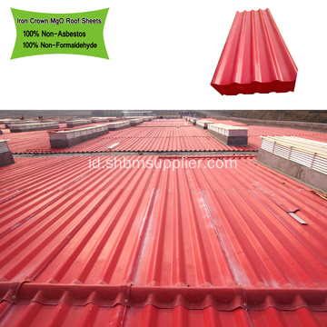UV Blocking Tahan Panas Mgo Roofing Tile