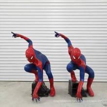 High quality fiberglass resin spiderman statue
