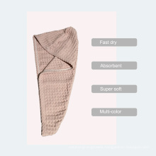 Pineapple Grid Fabric Cap Towel, Fast Dry Microfiber Embroidery Logo Bathroom Towel